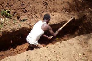 The Water Project: Kakubudu Primary School -  Sinking A Pit For New Latrines