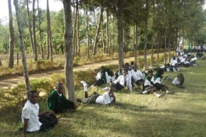 The Water Project: St. Kizito Lusumu Secondary School -  Other Students Cheer Them On