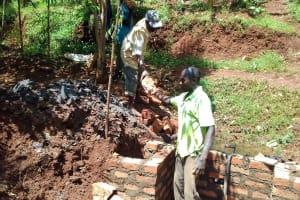 The Water Project: Wanzuma Community, Wanzuma Spring -  Spring Construction