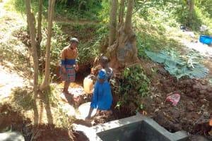 The Water Project: Igogwa Community -  Spring Construction