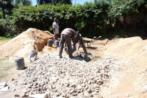 The Water Project: Chief Mutsembe Primary School -  Cement Work