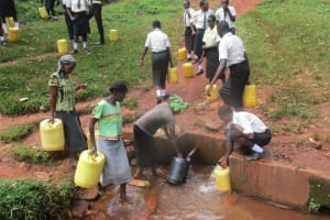 The Water Project: Evojo Secondary School -  Standing By For Community Members