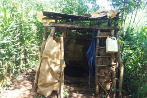 The Water Project: Hondolo Community, Musila Spring -  Latrine And Hand Washing Station