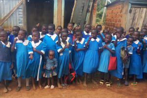 The Water Project: Mwiyenga Primary School -  Girls At Their Latrines
