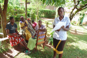 The Water Project:  Sylvia Midecha Leading Focused Group Discussion On Sound Hygienic Practices