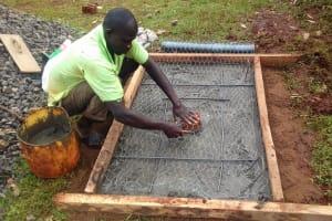 The Water Project: Wanzuma Community, Wanzuma Spring -  Sanitation Platform Construction