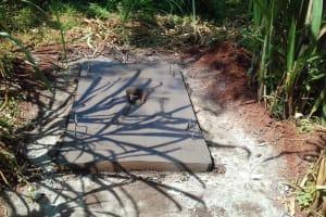 The Water Project: Igogwa Community -  Sanitation Platform Drying