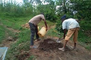 The Water Project: Handidi Community, Malezi Spring -  Construction