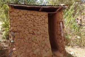 The Water Project: Kakubudu Community, Fred Lagueni Spring -  Mud Latrine With No Door
