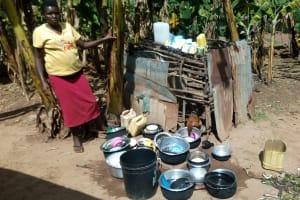 The Water Project: Mkunzulu Community, Museywa Spring -  Chicken And Utensils