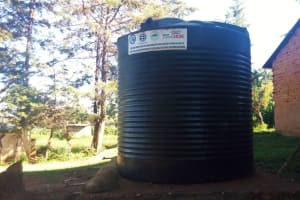 The Water Project: Eregi Mixed Primary School -  Liter Plastic Tank With No Gutters