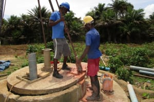 The Water Project: Kitonki Community, War Wounded Camp -  Drilling