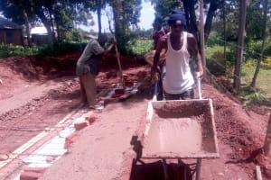 The Water Project: Kakubudu Primary School -  Latrine Foundation