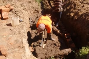 The Water Project: Shitoto Community, Abraham Spring -  Laying The Foundation