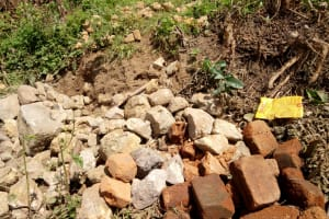 The Water Project: Shikoti Community -  Construction Materials Gathered By Community