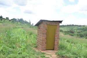 The Water Project: Kaani Community B -  Household Latrine