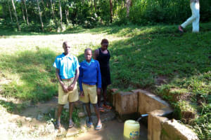 The Water Project: Eregi Mixed Primary School -  Students By The Community Spring