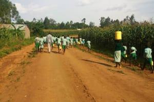 The Water Project: Eshilakwe Primary School -  Walking Back To School