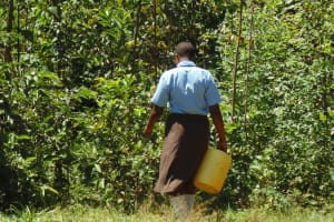 The Water Project: Friends Emanda Secondary School -  Emphy Walking To The Spring