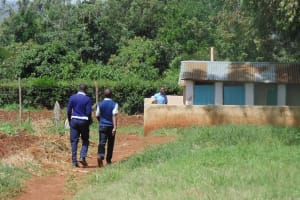 The Water Project: Ebubayi Secondary School -  Boys Walking To Their Latrines