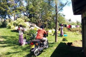 The Water Project: Bushevo Community, David Enani Spring -  Household