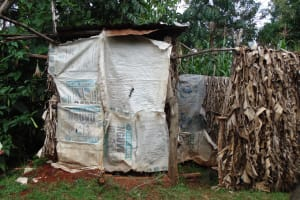 The Water Project: Lugango Community, Lugango Spring -  Latrine