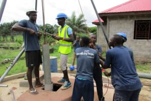 The Water Project: Royema, New Kambees -  Drilling