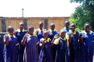 The Water Project: Kakubudu Primary School -  Finished Latrines