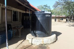 The Water Project: Shiyunzu Primary School -  Broken Plastic Tank