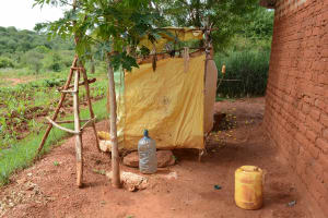 The Water Project: Ngaa Community A -  Household Bathing Room