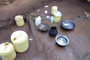 The Water Project: Ebuhando Community, Christopher Omasaba Spring -  Water Containers