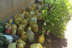 The Water Project: Namalenge Primary School -  Water Containers