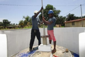 The Water Project: Benke Community, Turay Street -  Pump Installation