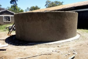 The Water Project: Kalenda Primary School -  Tank Almost Done