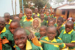 The Water Project: Digula Secondary School -  Digula Primary Students Excited To Drink Water