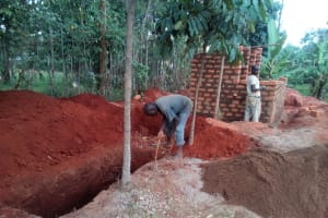 The Water Project: Friends Secondary School Shamakhokho -  Sinking The Pits