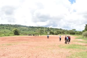 The Water Project: Uvaani Secondary School -  Walking Back To School From Collapsed Latrines