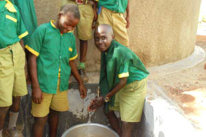 The Water Project: Digula Secondary School -  Primary Students Visiting The Tank