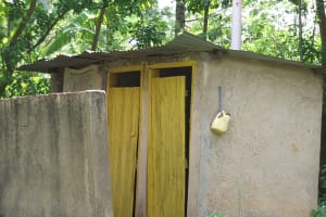 The Water Project: Chepkemel Community -  Latrine And Hand Washing Container
