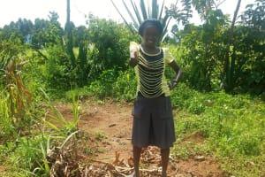 The Water Project: Chegulo Community, Shakava Spring -  Sanitation Platform