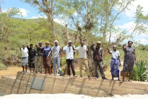 The Water Project: Ilinge Community -  Finished Sand Dam