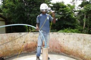 The Water Project: Kulafai Rashideen Primary School -  Yield Testing