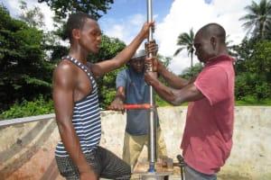 The Water Project: Kulafai Rashideen Primary School -  Pump Installation