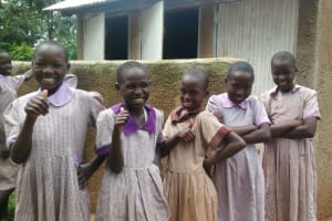 The Water Project: Lwangele Primary School -  Finished Latrines