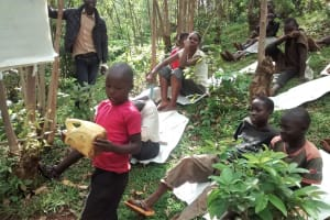 The Water Project: Wamuhila Community, Isabwa Spring -  Patrick Vudoti Explains How The Community Cleans Water Jerrycans