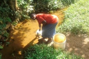 The Water Project: Mtao Community, Tifina Odari Spring -  Fetching Water