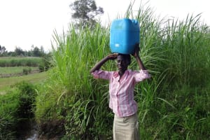 The Water Project: Luyeshe Community, Simwa Spring -  Jecinta Carrying Water