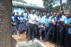 The Water Project: Digula Secondary School -  Teaching About Tank Maintenance