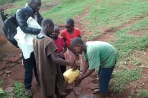 The Water Project: Wamuhila Community, Isabwa Spring -  Children Who Wanted To Show Off Their Hand Washing