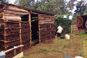 The Water Project: Matsakha A Community, Kombwa Spring -  Mud House Under Construction